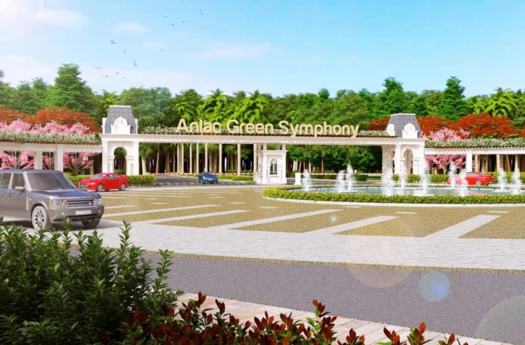 Cổng vào của khu đô thị An Lạc Green Symphony