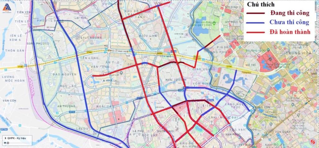 Bản đồ các tuyến đường phía Tây sắp triển khai