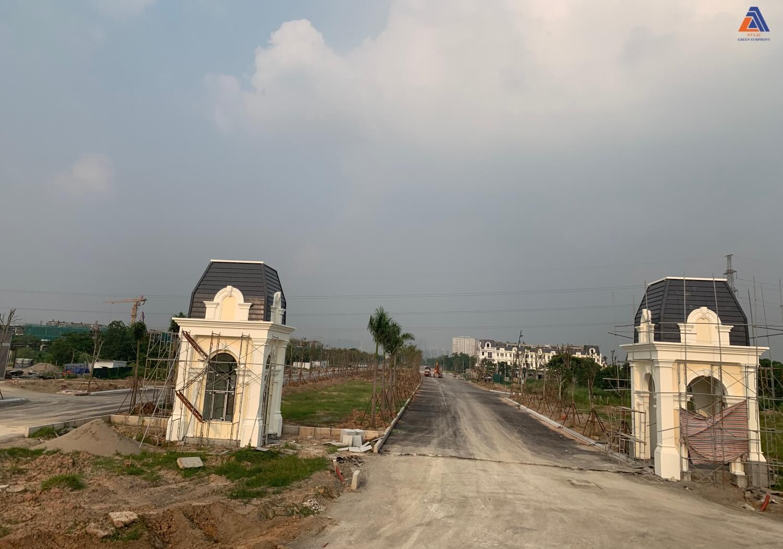 Cổng chính khu đô thị Vân Canh mặt đường vành đai 3.5