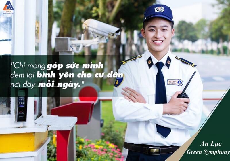 Đội ngũ an ninh chuyên nghiệp tại Vân Canh An Lạc