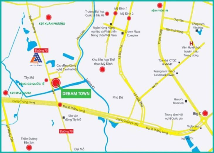 Quy hoạch đường 70 Xuân Phương