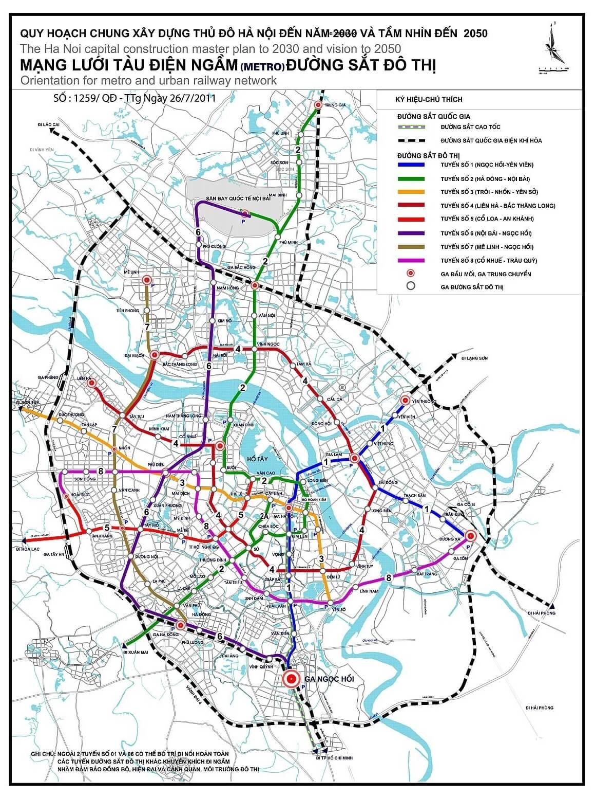 Quy hoạch đường sắt đô thị Hà Nội