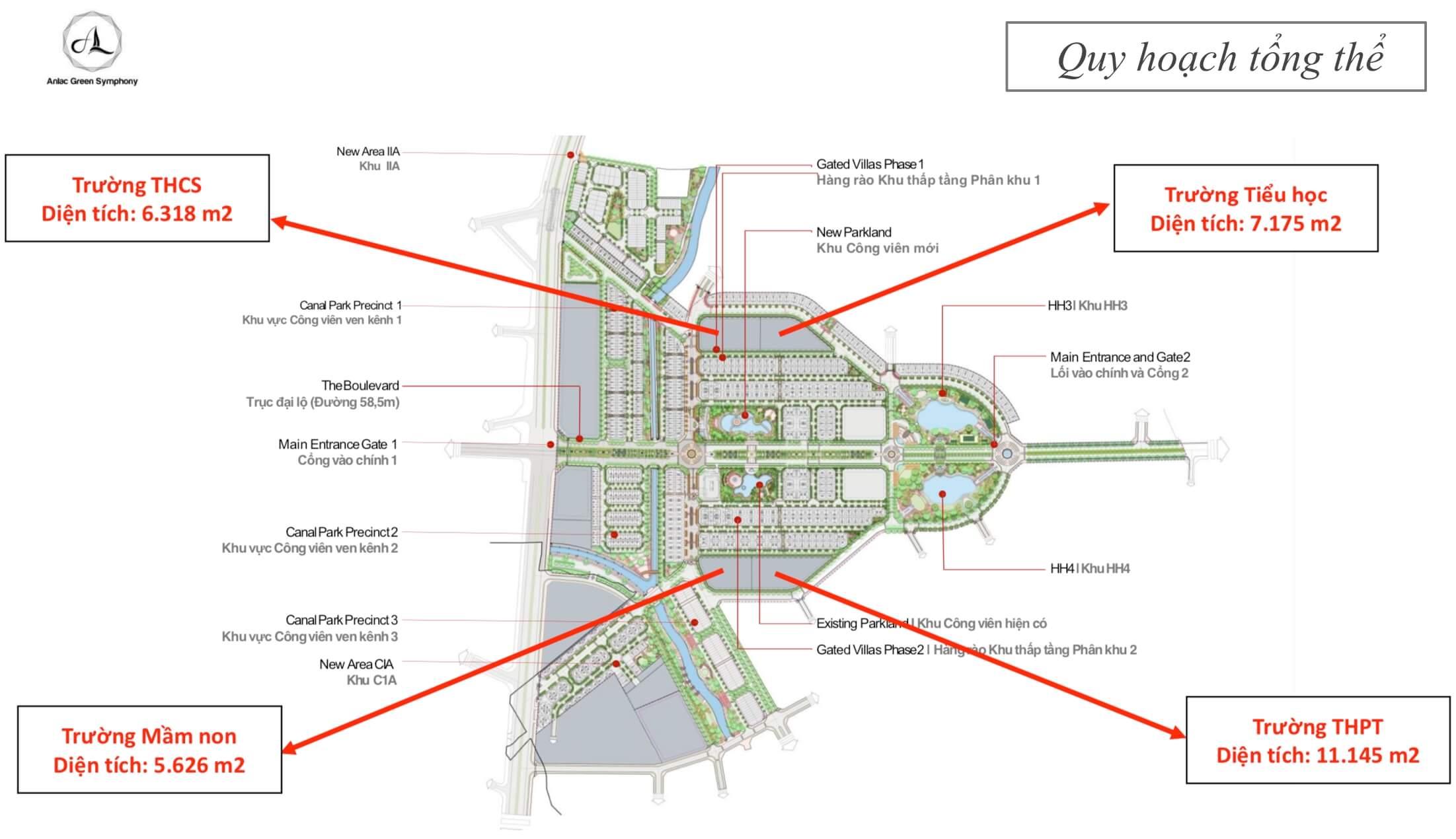 Quy hoạch tổng thể khu đô thị An Lạc Green Symphony