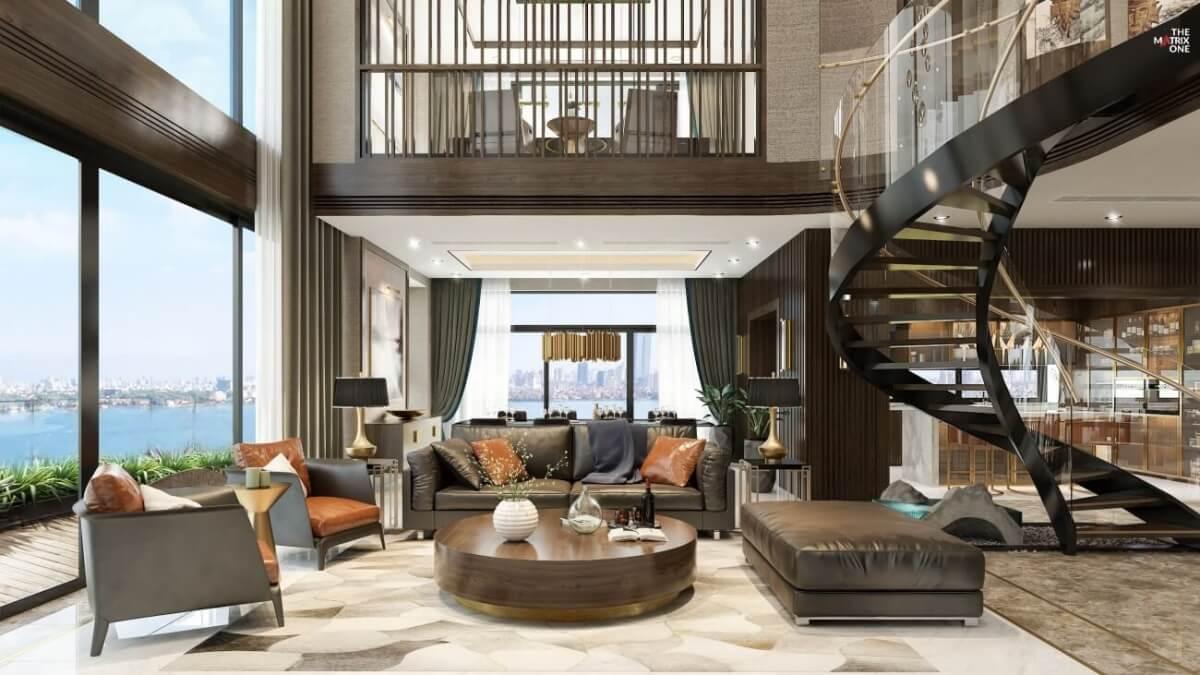 Thiết kế căn hộ Duplex Matrix One Mễ Trì